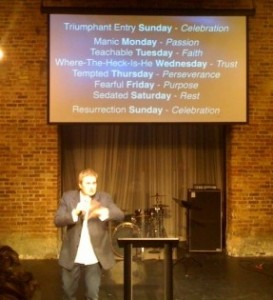 Pastor Kent preaching at City Church Chicago